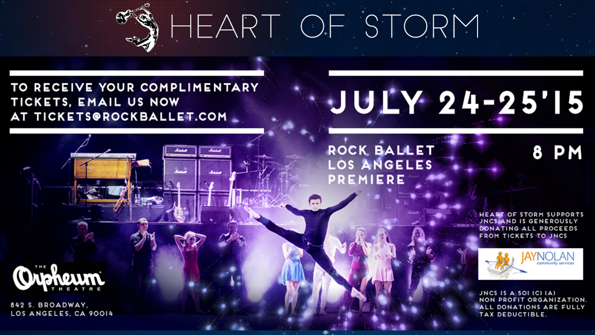 Heart of Storm Rock Ballet Production to Support Jay Nolan Community
