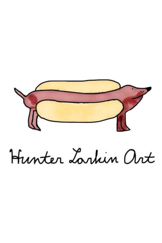 Hunter's artwork of a hot dog