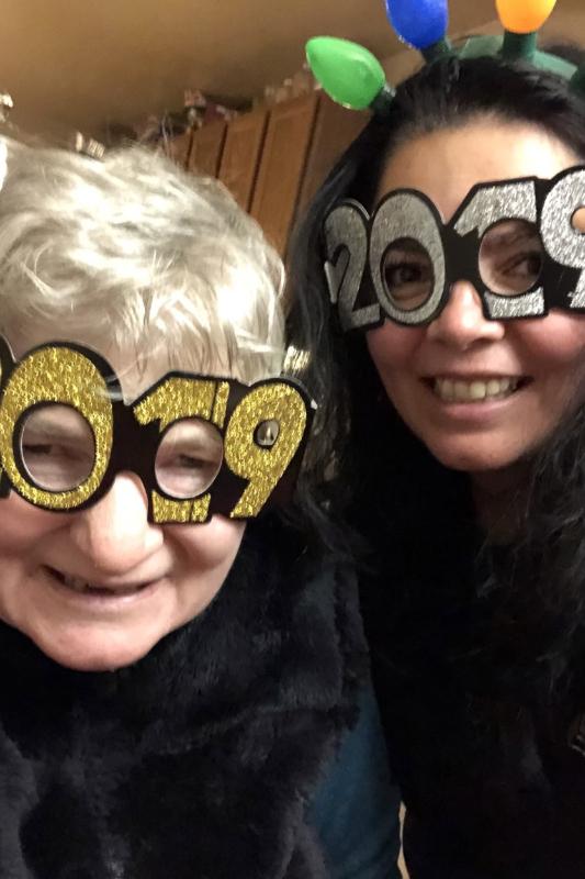 Irene and Gloria celebrating the 2019 New Years